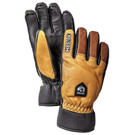 Hestra Army Leather Wool Terry Gloves 5-Finger Kork/Brun